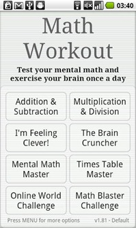 Math Workout 1